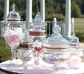 Candy Jars via dcnearlyweds Decorating with Candy
