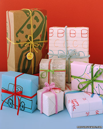 homemade gift wrap by marth stewart Christmas Gift Wrap Inspiration