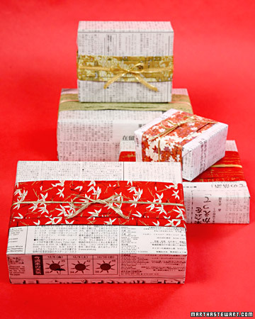 japanese gift wrap Simple and Cheap Christmas Gift Wrap Ideas