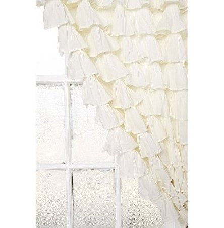 Waterfall Ruffle Curtain by thisnext via athomewithit Ruffles