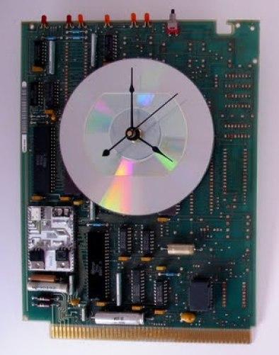 circuit board clock via inspirationthroughdesign Handmade Clocks