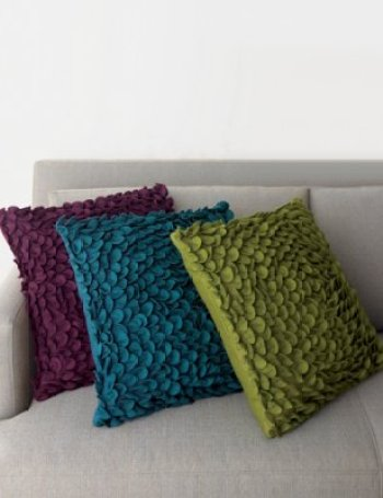 crateandbarrel pillow 50 via pointclickhome Ruffles