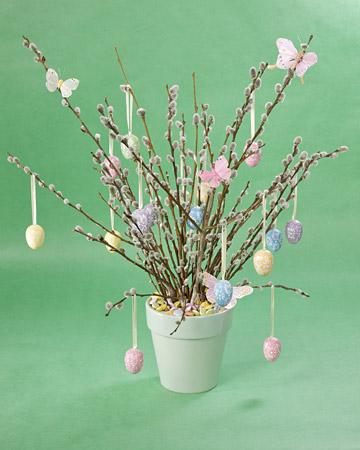 pussywillow egg tree via martha Easter Egg Trees