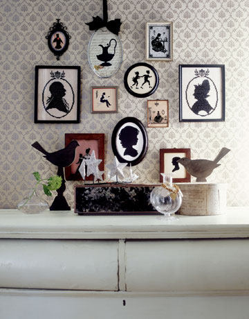 silhouette grouping via country living Silhouettes