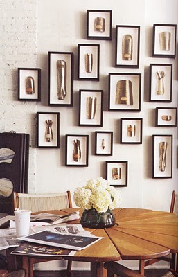 splints collection via elementsofstyleblog Modern Wall Displays of Collections