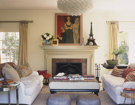 christine gillespies living room via hb House Beautiful Living Rooms
