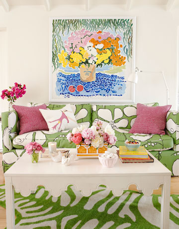 colorful beach house living room via hb Colorful Beach House