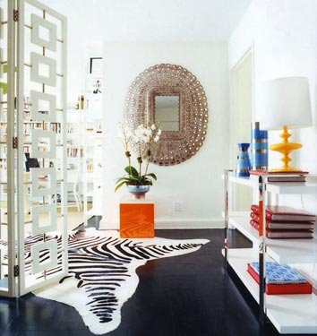 domino entry zebra rug Making an Entry