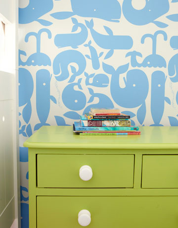 whale wallpaper via hb Colorful Beach House