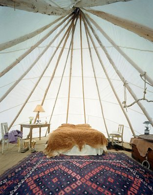 glamping via justbeautifulthings blogspot Gone Glamping!