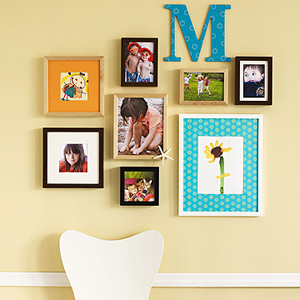 photos and artwork display via familycircle Ideas for Displaying Photos