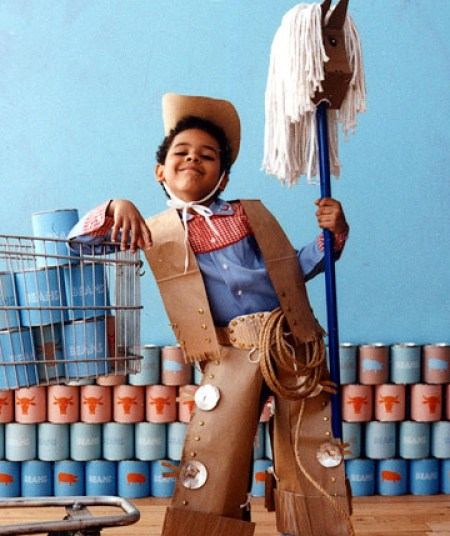 cowboy costume via martha Homemade Costume Ideas for Halloween