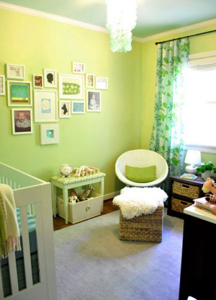 green and blue nursery via young house love Gender Neutral Nurseries