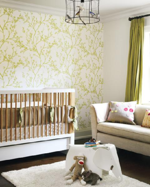 green nursery via decorpad Gender Neutral Nurseries