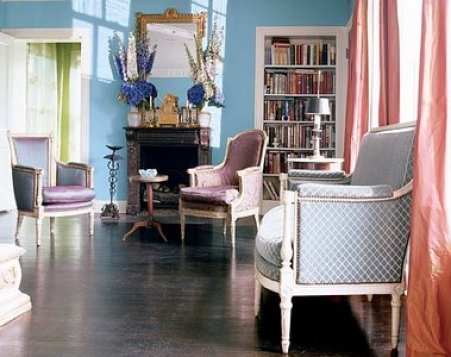 Purple Living Room Southern Accents Magazine How Light Affects Paint Colors