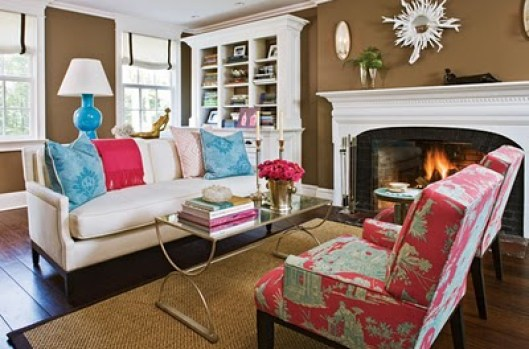 pink and turquoise room via flourishdesignandstyle blogspot Pink + Turquoise = Its a Festivus Miracle!