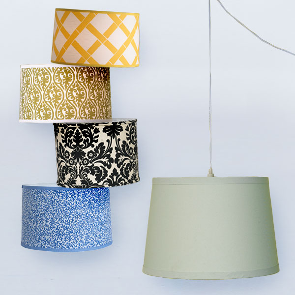 hanging drum shade pendant via inspired spaces How to Hang a Drum Shade
