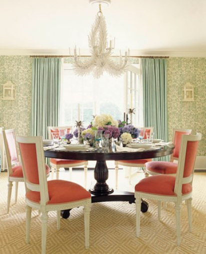 turquoise and coral ashley whittaker via hb How to Create a Color Palette for your Home