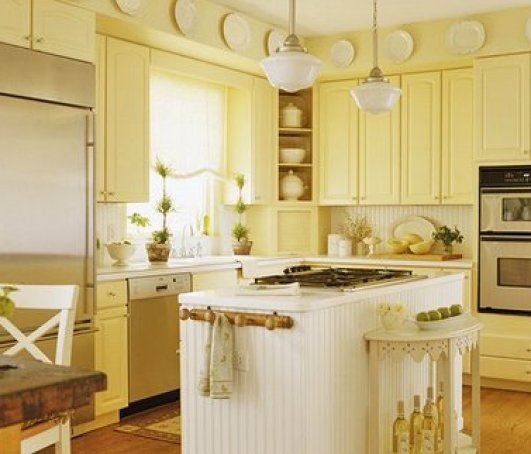 yellow kitchen via shoponline2011 How to Create a Color Palette for your Home