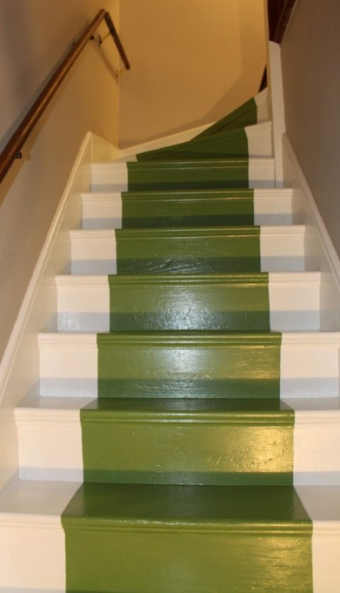 green painted stairs via preciousblood cps org 682x1024 Take A Chance On Your Stairs