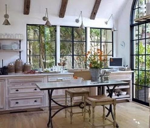 brinson 11 kitchen iron windows limed wood via designmanifest blogspot Limed Wood:  Hot, Hot, Hot