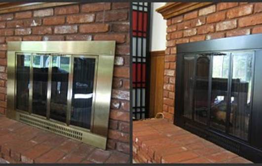 spray painted fireplace via mollythepirate blogspot 7 Things You Never Thought You Could Spray Paint!