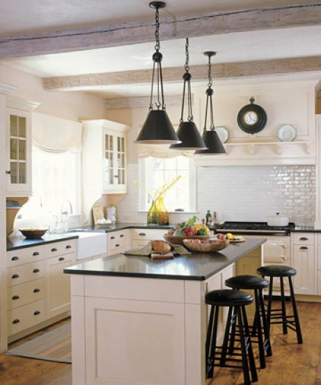 white kitchen via kitchenremodeldesigns blogspot Shocking News from Nashville Home Stager: Granite Countertops Are Like Crack Cocaine