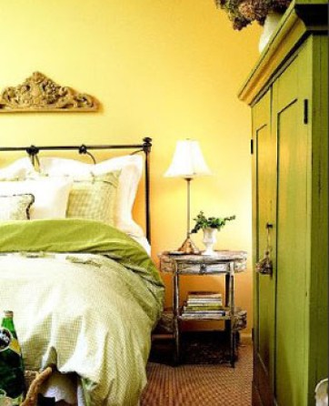 yellow bedroom via bhg The Truth About Men & Decorating