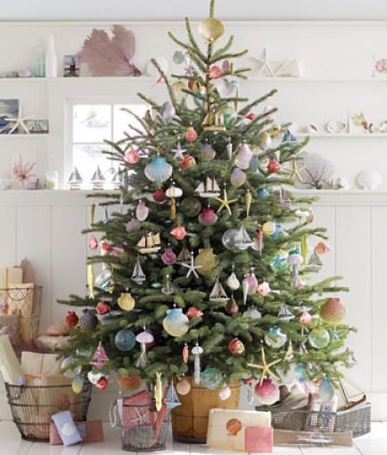 seashell ocean tree via martha Oh Christmas Theme, Oh Christmas Theme . . .