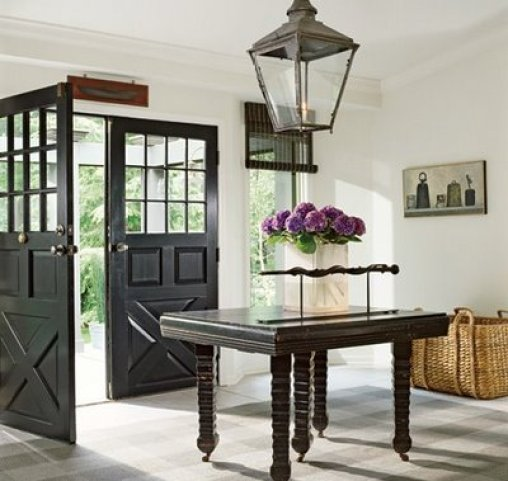 black doors gayle w mandle and james b hall in Architectural Digest Nashville Interior Decorator Weighs In:  Whats Out in Design Trends