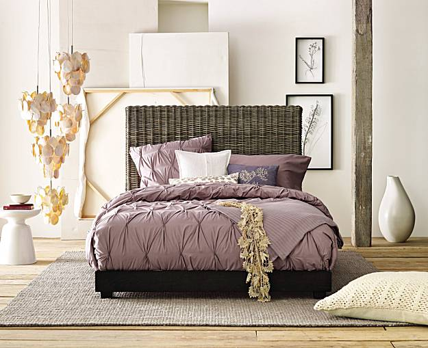 purple bed via articles sfgate Nashville Interior Decorator Weighs In:  Whats Out in Design Trends