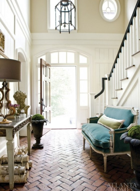 black bannister via atlanta homes lifestyles I Want to Paint It Black