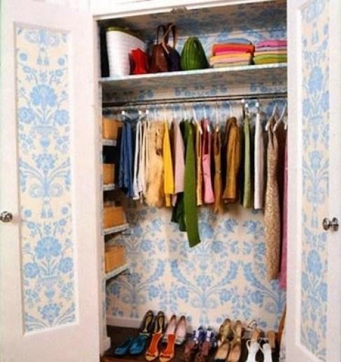 wallpapered closet Closet Case