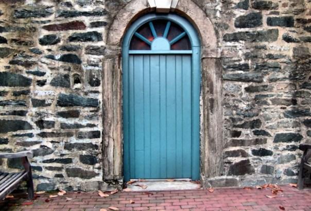 haint blue door via viewshound Haint It Lovely?  Using Haint Blue on Exteriors