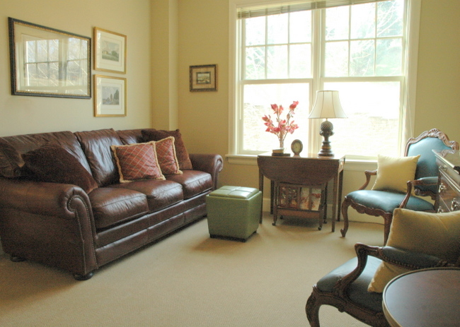 leather seating area