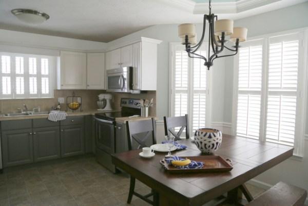 kitchen2 600x403 Painting Melamine Kitchen Cabinets