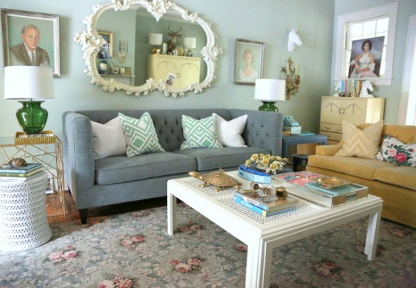 7O3A9696 600x416 I Go Kicking and Screaming   Eclectically Fall Home Tour