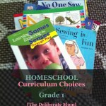 Grade 1 curriculum choices for homeschooling. #homeschool