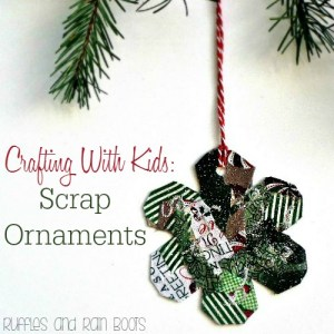 Simple and easy to make handmade kid ornaments - scrap ornaments