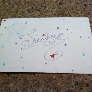 Beautiful mail from a beautiful lady. Thank you @inspirememama --…