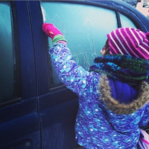 My oldest daughter was thrilled that there was frost on…