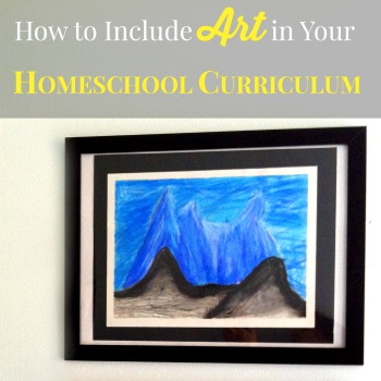 """I've heard on several occasions how families feel intimidated by the prospect of """"teaching"""" art. Here are some great tips on how to include art in your homeschool curriculum!"""