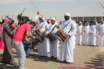 Drums are played to accompany the singing and dancing