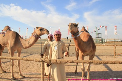 Brothers with their prize-winning camels