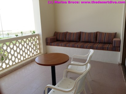 Balcony with raised majlis seating - great for relaxing