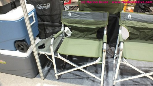 Another colemans product - chair with side table, handy to keep your hop beverage close at hand