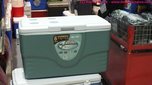 Colemans Extreme Coolbox - low cost, keeps food cool for days (not sure if it would be 5 days in the summer in Liwa tho.