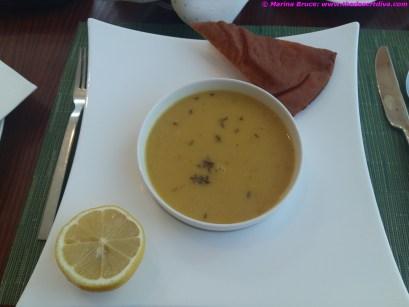 Arabic style lentil soup