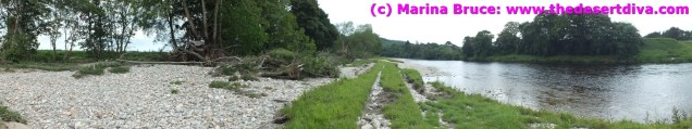The winter floods inflicted major damage to the river Dee