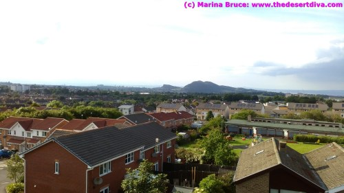 View from our apartment over to Arthur's seat